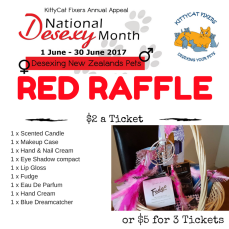 """Red Raffle - Gifts for Her Treat yourself to some """"Gifts for Her"""" - please note the colour of the dreamcatcher is different to the one in the package, as I fell in love with the pink one. The one in the prize is beautiful Red and Black. To purchase tickets please deposit funds into our ANZ bank account: 06-0433-0458818-00 Particulars: Your full name Ref: Red17 $2 a ticket or $5 for 3 Tickets. If you would like one of each Raffle for $5, please use the following reference: GRY17 Raffle will be drawn on Monday 3rd July. This is only open to NZ residents with NZ postal address for courier."""